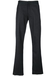 Universal Works Aston Flannel Trousers Cotton Polyester Wool Grey