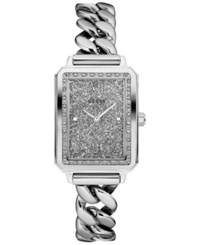 Guess Women's Stainless Steel Chain Link Bracelet Watch 28Mm U0896l1 Silver