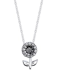 Unwritten Sterling Silver Sunflower Pendant Necklace