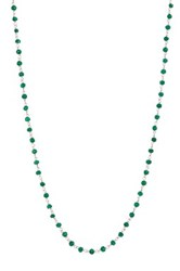 Sterling Silver Emerald Gemstone Necklace Green