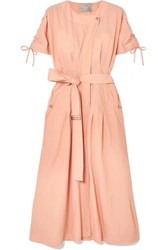 Jason Wu Belted Crinkled Taffeta Dress Blush