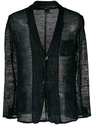 Avant Toi Sheer Button Blazer 60