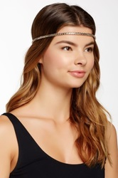 Cara Accessories Faux Leather Stretch Headband Metallic