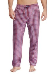 Ralph Lauren Plaid Cotton Pajama Pants Newport Red Plaid