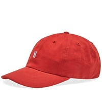 Norse Projects Twill Sport Cap Red