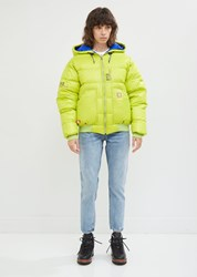 R 13 R13 Reversible Down Hoodie Jacket Lime Bright Blue Lime Bright Blue