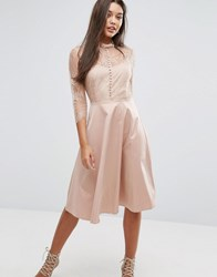 Y.A.S Pretty Dress With 3 4 Sleeve Pink