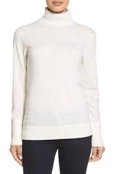 Women's Nordstrom Collection Cashmere Turtleneck Sweater Ivory Soft