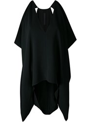 Gareth Pugh 'Square Draped' Top Black