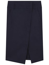 Gerard Darel Jeanne Cotton Wrap Skirt Navy