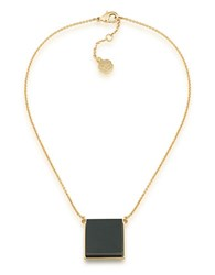 Trina Turk 14K Goldplated Brass Square Pendant Necklace Black