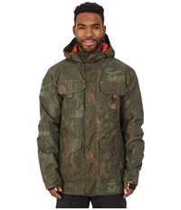 Dc Servo Snow Jacket Camo Lodge Men's Coat Brown