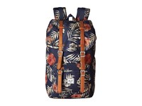 Herschel Little America Peacoat Floria Tan Synthetic Leather Backpack Bags Navy