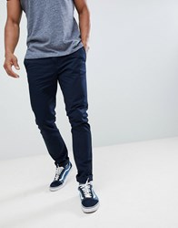 United Colors Of Benetton Slim Fit Chinos In Navy