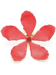 Rosie Assoulin Oversized Enamel Flower Earrings Red