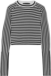 Paper London Gill Striped Wool Sweater Black