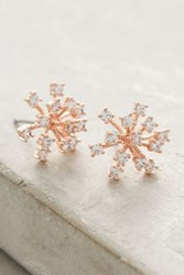 Anthropologie Snowflake Posts Rose
