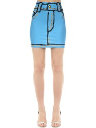 Moschino Trompe L'oeil Denim Effect Lycra Skirt