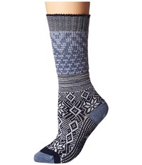 Smartwool Snowflake Flurry Blue Steel Heather Women's Knee High Socks Shoes Gray