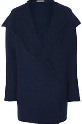 Vince Sophie Wool Blend Hooded Cardigan Storm Blue