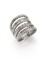 John Hardy Classic Chain Sterling Silver Multi Band Ring