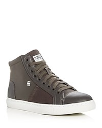 G Star Toublo Mid Top Sneakers Gray