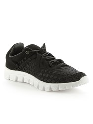 Daniel Hollywood Hills Woven Elastic Trainers Black