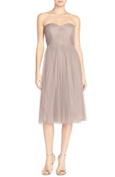 Jenny Yoo Women's 'Maia' Convertible Tulle Tea Length Fit And Flare Dress