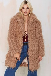 Nasty Gal Super Trash Orson Faux Fur Coat