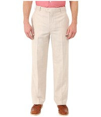 Perry Ellis Classic Fit Linen Portfolio Pant Natural Linen Men's Dress Pants Beige