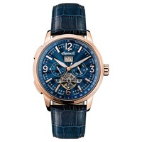Ingersoll Men's The Regent Automatic Chronograph Date Heartbeat Leather Strap Watch Navy
