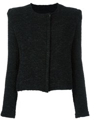 Iro Raw Edge Boucle Jacket Black