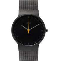 Braun Bn0211 Classic Slim Stainless Steel Mesh Watch Black