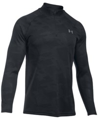 Under Armour Men's Ua Tech Quarter Zip Jacquard Shirt Blk Sty St