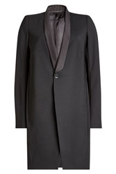 Rick Owens Virgin Wool Blazer Coat Black