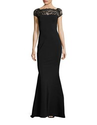 La Petite Robe Di Chiara Boni Illusion Lace Gown Black