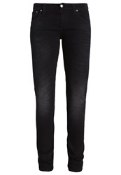 Nudie Jeans Long John Straight Leg Black Coyote Black Denim