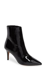 Linea Paolo Nita Bootie Black Crinkle Patent