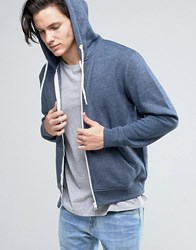Solid Zip Up Hoodie In Navy Navy