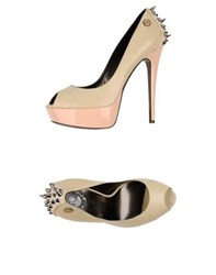 Philipp Plein Footwear Courts Women Beige