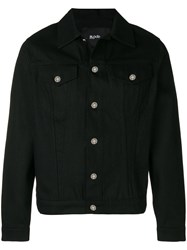 Blood Brother Logo Embroidered Shirt Jacket Black