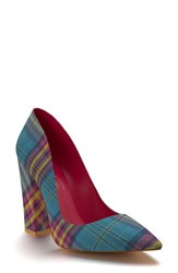 Shoes Of Prey Women's Pointy Toe Pump Tropical Madras