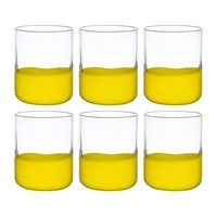 Bitossi Home Spot Tumblers Set Of 6 Yellow