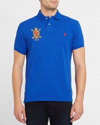 Polo Ralph Lauren Royal Blue Embroidered Custom Fit Shirt