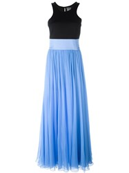 Fausto Puglisi Flared Racerback Long Dress Blue