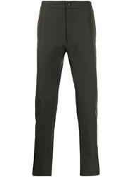 Les Hommes Tailored Side Stripe Trousers Green