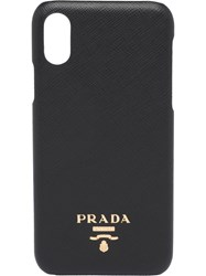 Prada Saffiano Leather Cover For Iphone X And Xs Black
