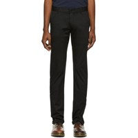 Naked And Famous Denim Black Stretch Chino Trousers