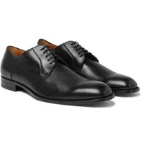Hugo Boss Cardiff Leather Derby Shoes Dark Brown