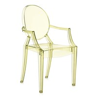 Kartell Louis Ghost Armchair Straw Yellow